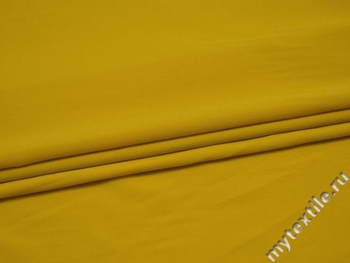 Плательная желтая ткань полиэстер БА152