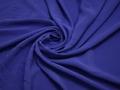 Плательная синяя ткань хлопок полиэстер БА154