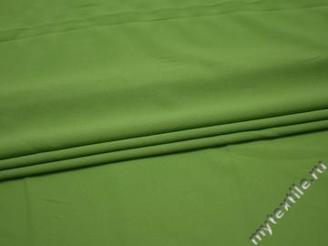 Плательная салатовая ткань полиэстер БА167