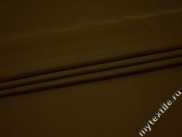 Плательная цвета хаки ткань полиэстер БА170