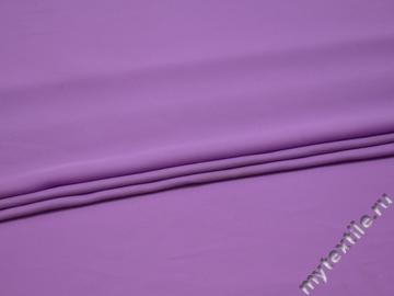 Плательная сиреневая ткань полиэстер БА131