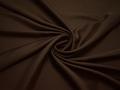 Плательная коричневая ткань полиэстер БА134