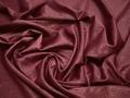 Плательная малиновая ткань узор полиэстер БА136