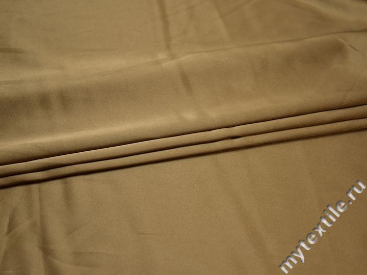 Плательная золотая ткань полиэстер эластан БА111