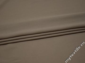 Плательная бежевая ткань полиэстер БА112