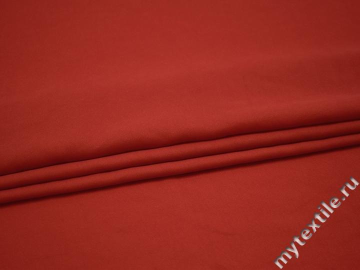 Плательная терракотовая ткань полиэстер БА113