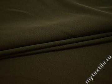 Плательная зеленая ткань полиэстер эластан БА117
