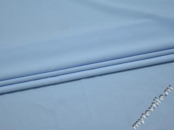 Плательная голубая ткань полиэстер эластан БА122