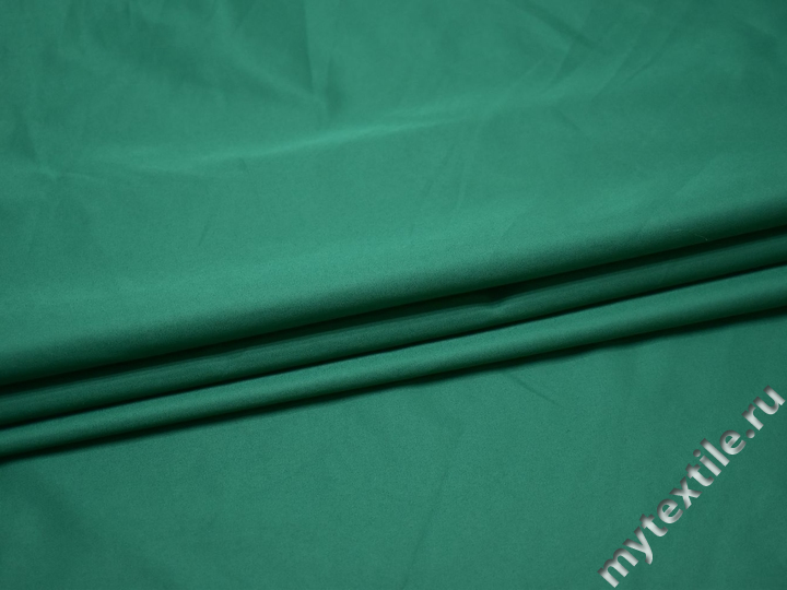 Плательная бирюзовая ткань полиэстер БА351