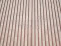 Рубашечная белая коричневая ткань полоска хлопок эластан БВ375