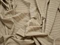 Рубашечная бежевая ткань полоска цветы хлопок полиэстер БВ369