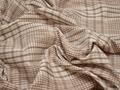 Рубашечная бежевая ткань полоска хлопок полиэстер эластан БВ363