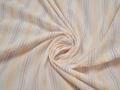 Рубашечная молочная ткань полоска хлопок БВ358