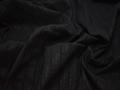 Рубашечная черная ткань полоска хлопок эластан полиэстер БВ349