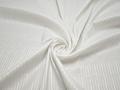 Рубашечная белая ткань полоска хлопок эластан полиэстер БВ348