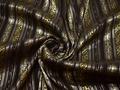 Рубашечная коричневая ткань пейсли хлопок эластан полиэстер БВ347
