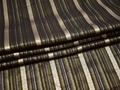 Рубашечная коричневая ткань полоска хлопок эластан полиэстер БВ346
