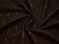 Рубашечная коричневая ткань полоска хлопок эластан полиэстер БВ343