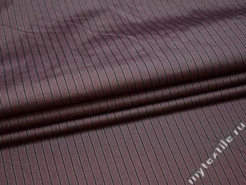 Рубашечная сиреневая ткань полоска вискоза эластан БВ340