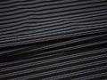 Рубашечная черная ткань полоска вискоза хлопок БВ338