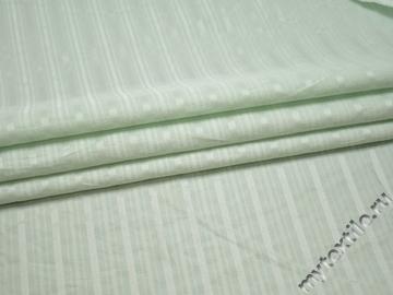 Рубашечная бирюзовая ткань полоска хлопок полиэстер БВ335