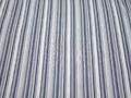 Рубашечная бело-синяя ткань полоска хлопок полиэстер эластан БВ334