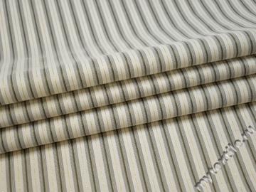 Рубашечная белая ткань полоска хлопок полиэстер эластан БВ332