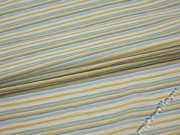 Рубашечная белая ткань полоска полиэстер БВ324