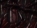 Рубашечная черная бордовая ткань полоска полиэстер эластан БВ325