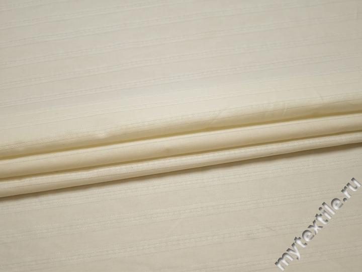 Рубашечная молочная ткань полоска хлопок БВ323