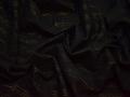 Рубашечная черная ткань полоска люрекс хлопок БВ34