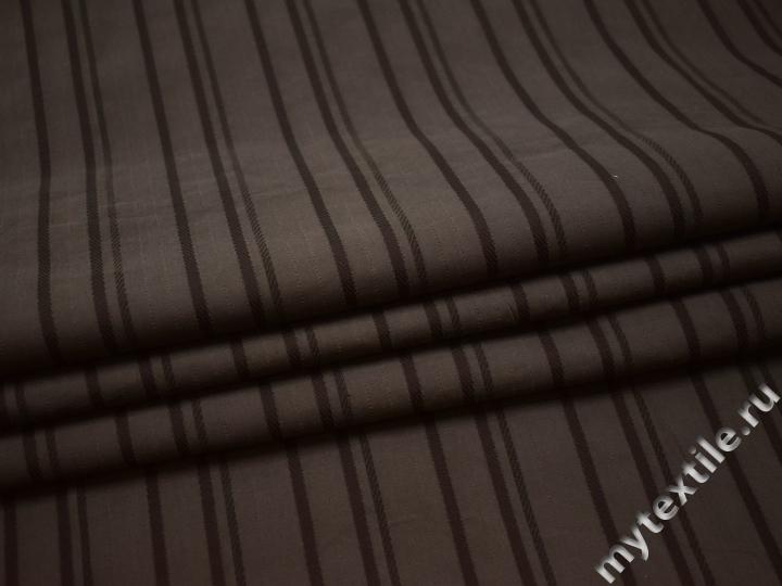 Рубашечная коричневая ткань вискоза эластан БВ37