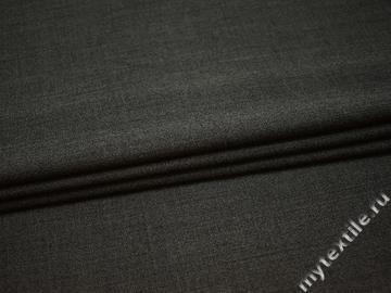 Костюмная серая ткань шелк полиэстер ГД760