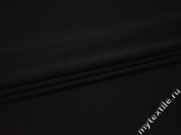 Костюмная черная ткань полиэстер ГД750
