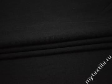 Костюмная черная ткань хлопок эластан ГД746