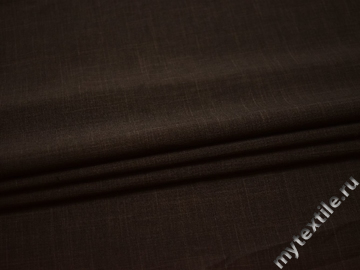 Костюмная коричневая ткань полиэстер ГД742