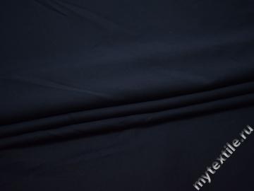 Костюмная синяя ткань вискоза эластан ГД740