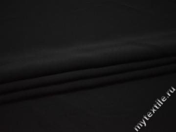 Костюмная черная ткань полиэстер ГД739