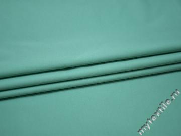 Костюмная бирюзовая ткань полиэстер ГД617