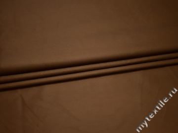 Костюмная коричневая ткань полиэстер ГД62