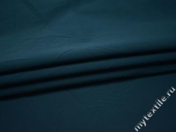 Плащевая синяя ткань хлопок полиэстер ГД61