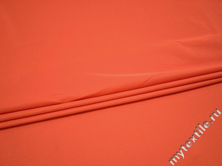 Плательная оранжевая ткань полиэстер ББ557