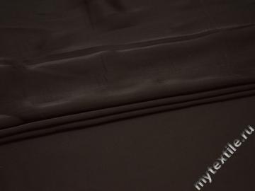 Плательная коричневая ткань полиэстер БА623