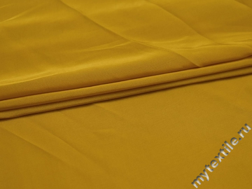 Плательная желтая ткань полиэстер БА629