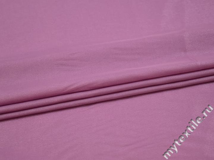 Плательная сиреневая ткань вискоза полиэстер БА630
