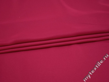 Плательная малиновая ткань полиэстер БА636