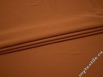 Плательная терракотовая ткань полиэстер БА638