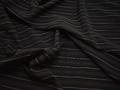 Плательная черная ткань полоска полиэстер БГ21