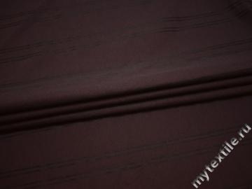 Рубашечная бордовая ткань в полоску хлопок БГ26