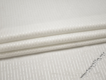 Рубашечная белая ткань в полоску хлопок эластан БГ29